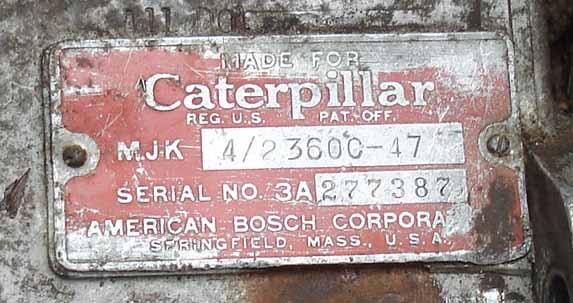 Caterpillar D4-7U series pony motor information starting and