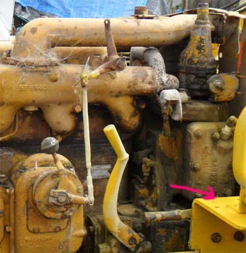 Caterpillar D4-7U series pony motor information on this bulldozer